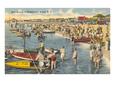 People at the shore enjoying Boat racing at Wrightsville Beach  - North Carolina Beaches