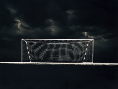 Soccer Net on a Stormy Night Photographic Print at Art.