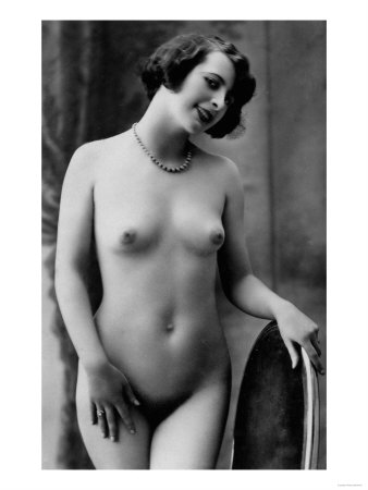 Nude Woman French Art Nouveau Photograph No.12 - France Premium Poster