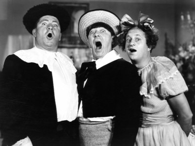 THE THREE STOOGES, All the World's a Stooge, Curly Howard, Moe ...