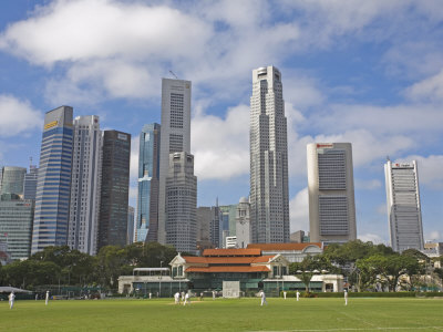 Cricket on THE PADANG, Singapore, Southeast Asia, Asia ...