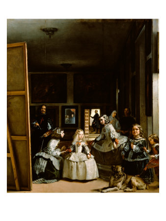 Las Meninas The Maids of Honor 1656 Giclee Print zoom view in room