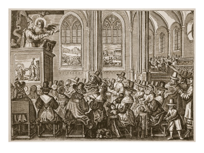Cromwell preaches to a puritan congression