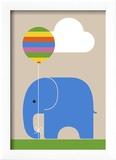 Eléphant Reproduction encadrée par Dicky Bird