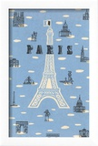 Eiffel Tower and Various Paris Motifs