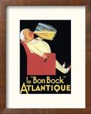 Le Bon Bock Atlantique Reproduction encadrée