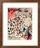 """Vogue Cover - November 1939 - Leopard Love Reproduction encadrée par Carl """"Eric"""" Erickson"""