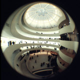 Interior Views of the Frank Lloyd Wright Designed  Solomon R Guggenheim Museum