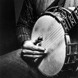 Country Music: Close Up of Banjo Being Played