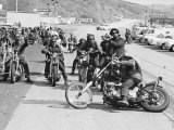 Hell's Angels Motorcycle Gang Members Preparing to Ride to Bakersfield
