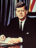 "Portrait of President John F Kennedy  from the TV Show  ""JFK Assassination as It Happened"""