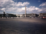 Place de La Concorde with the Ancient Obelisk  Showing Hotel Crillon and the Ministry of the Navy