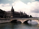 Bridge over Seine  the Conciergerie  Where Marie Antoinette was Imprisoned During French Revolution