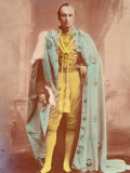 Portrait of Lord Curzon of Kedleston in Ceremonial Robe  Viceroy Sent from England to Oversee India