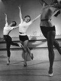 Marilyn Monroe Doing Step in Dance Class