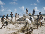 Bahia Fisherman on Beach with their Nets