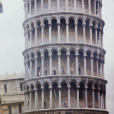 People Walking on Upper Levels of the Tower of Pisa