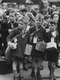 View of Children Being Evacuated Out of London During the Outbreak of World War II