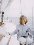 Teenage Girl on a Sailboat