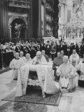 Pope John XXIII  with Bishops Kneeling in Prayer  St Peter's Basilica  Opening of Vatican II