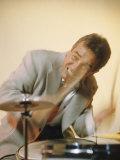 Jazz Drummer Gene Krupa in Action