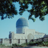 Building with Blue Dome  Registan in Samarkand  USSR