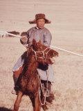 Herdsman on Horseback in Outer Mongolia