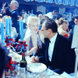 Actress Marilyn Monroe with Her Husband  Playwright Arthur Miller April in Paris Ball