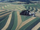 Neat  Swirling Furrows  Contour Plowed across Gently Rolling Fields of Southwestern Wisconsin