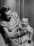 Singer Actress Judy Garland Holding Her Darling Baby Daughter Liza at Home