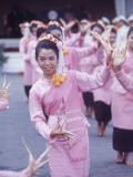 Thai Dancers During President Johnson's Asia Tour