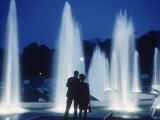 The Parisians: Jardins du Trocadero Fountains at Night