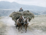 Russian Look of the Land Essay: Peasents with a Load of Hay on a Horse-Drawn Wagon