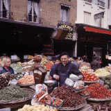 Fruits  Vegetables  Meat  Polutry  and Flowers Sold in Rue Mouffetard Market  Quartier Latin