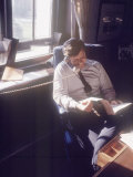 Senator Edward M Kennedy on the Phone in His Office  Probably in Washington Dc