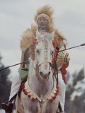 Ethiopian Horseman During British Queen Elizabeth II&#39;s Visit