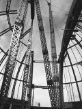 Girders Spanning Space in Dome Pattern  Construction of Palomar Telescope  Mt Wilson Observatory