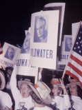 People Waving Senator Barry M Goldwater Posters at Young Republican Convention