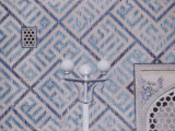 Close-Up of Mosaic on Building  Registan in Samarkand  USSR