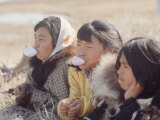Alaska: Native Alaskan Girls Blowing Bubbles