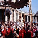 Pope John XXIII Riding the Sedia Gestatoria to St Peter's Basilica  2nd Vatican Ecumenical Council