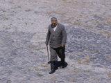 Local Man Crossing Public Square  Registan in Samarkand  USSR