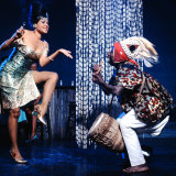 "Katherine Dunham with Drummer  Ladji Camara During Sequence in Dance Revue ""Bamboche"""