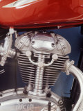 Motorcycles: Closeup of a Ducati Engine