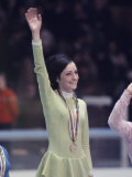 US Figure Skater Peggy Fleming after Winning Gold Medal  Winter Olympic Games in Grenoble  France