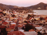 The Carribean: Low Aerials of Charlotte Amalie Capital of St Thomas