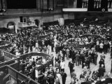 People Crowding the Stock Exchange Building