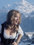 "Ingrid Pitt as ""Heidi"" During the Filming of the Movie ""Where Eagles Dare"""