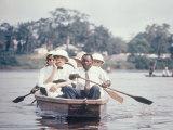 Dr Albert Schweitzer Going Down the Ogowe River to Lambarene for His Birthday Celebration