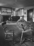 Spinning Wheel Standing in the Home of Mother Seton  the Foundress of the Charity Order in the Us